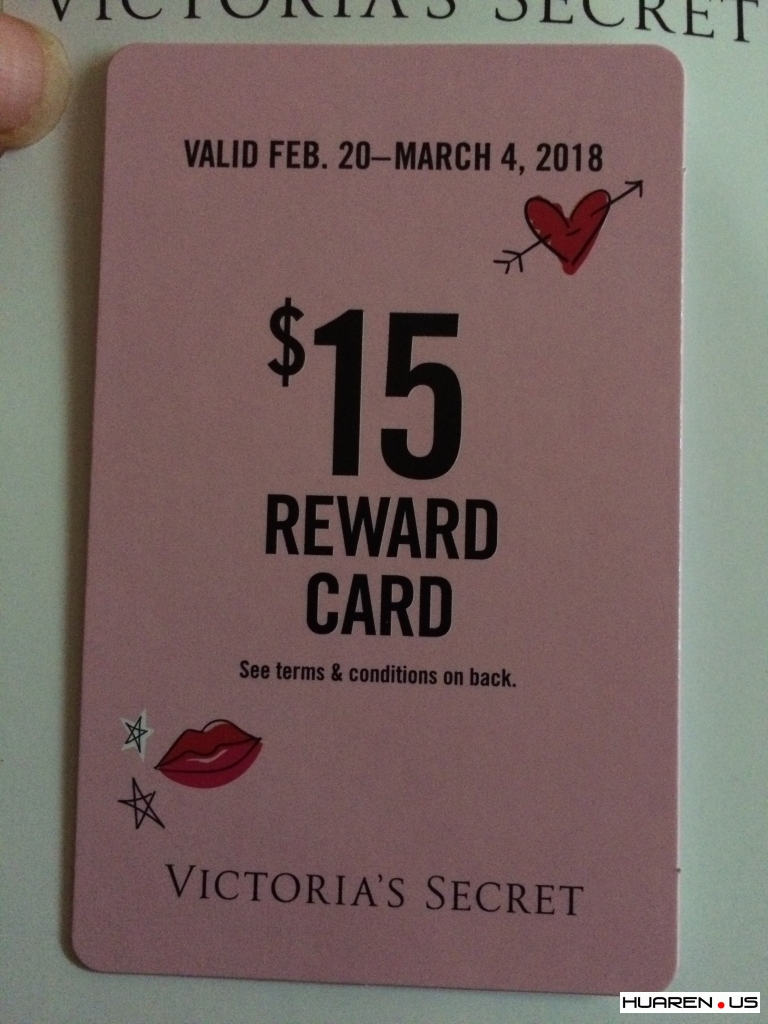 转自victorias secret  rewards card